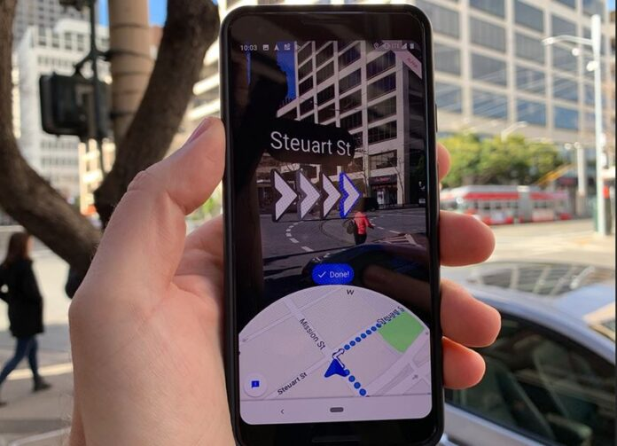Google Maps AR Directions